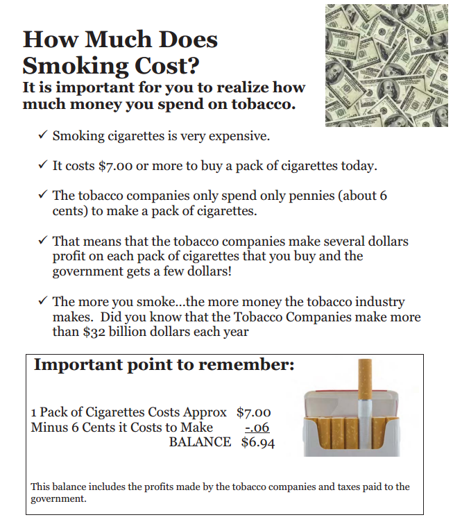 How much does smoking cost